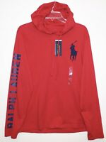 Polo Ralph Lauren Mens Size M Red Big Pony Polo 67 Hoodie L/S T-Shirt NWT Size M
