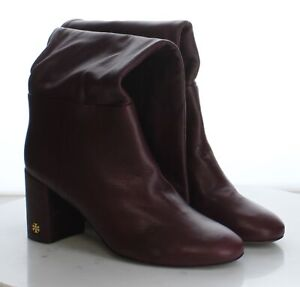 65-29 MSRP$498 Women's Size 9.5M Tory Burch Brooke Burgundy Leather Slouchy Boot