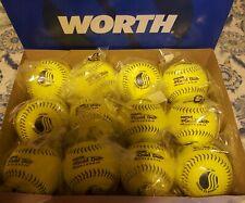One Dozen Worth Super Gold Dot USSSA Slowpitch Softballs