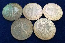 2012 Austrian Philharmonic ~ 0.999 Fine Silver Bullion ~ Five Coins! ~ 5 oz Tot