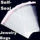 2x100 Clear Resealable Recloseable Plastic Self Adhesive Bag Cello Lip&Tape Bags