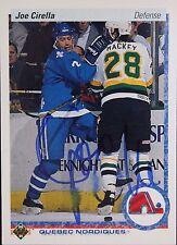 Joe Cirella Nordiques Autographed 1992 Upper Deck #293 A Hockey Card JSA 16H