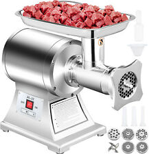 Commercial Electric Meat Grinder 750w Stainless Steel 550lbsh Heavy Duty 22