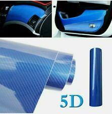 Pellicola Carbonio Blu Blue 5D Adesiva 30x100Cm Wrapping Auto Moto Film Vinyl