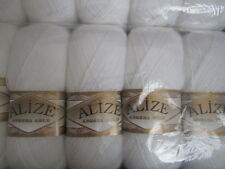 KNITTING WOOL & YARN  5 x 100g   ALIZE  ANGORA GOLD - WHITE 55