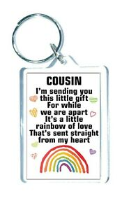 Cousin Rainbow Keyring Gift I'm Sending You This Little Gift Positive Quote