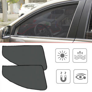 4*Magnetic Car Side Window Sun Shade Cover Mesh Shield UV Protection Accessories