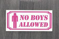 Novelty Sign - No Boys Allowed!   (NS-01)