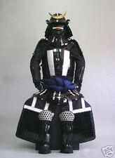 wearable Japanese Rüstung Art Samurai Armor suit Iron & Silk black