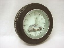 (34129) Clock Wall Wheel Tyre Wall & Desktop Small Table Bedside Table Small