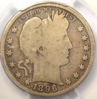 1896-S Barber Quarter 25C - PCGS G6 - Rare Key Date Certified Coin