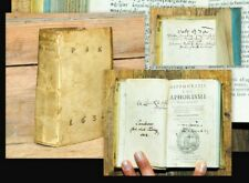 1627 Hippocrates Hippokrates Aphorismi graece & latine una cum prognosticis