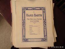 Hans Barth: In a Swing Valse, Piano  (Schroeder & Gunther)