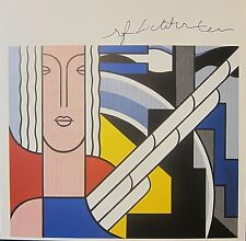 ROY LICHTENSTEIN * MODERN PAINTING WITH CLASSIC HEAD * HAND SIGNED PRINT W/COA