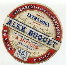 FROMAGE CAMEMBERT ALEX BUQUET PROPRIETAIRE FABRICANT A MITTOIS