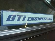 GTi Engineering Sticker LONG - VW Golf Mk1 Mk2 Jetta
