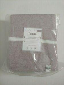 Pottery Barn Kids Organic Heathered Flannel Sheet Set Twin Lavender NWT