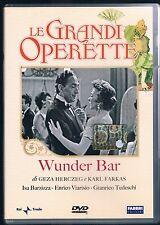 LE GRANDI OPERETTE WUNDER BAR I. BARZIZZA E. VIARISIO DVD RAI TRADE FABBRI ED