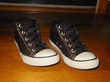 Converse All Star Dark Brown Mid sneakers - Kid's sz 3 M - Euro sz 35 - EX cond
