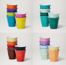 Barel Classic 260mL Melamine Cups Set of 6 - 8 Colour Combos - Juice Milk & Soda