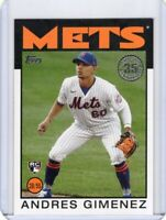 2021 TOPPS  BASEBALL ROOKIE CARD # 86B-46  - ANDRES GIMENEZ - INDIANS / METS