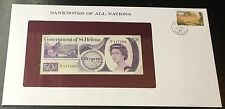 Banknotes Of All Nations 1979 St Helena 50 Pence Fifty Pence P 5 Prefix V/1 UNC