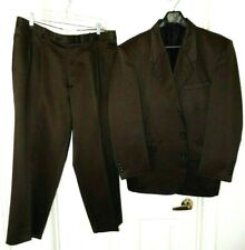 Gino Cappeli Designer Collection 2 pc Suit--42 S  brown