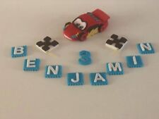 Lightning McQueen unofficial Cars cake topper personalised handmade animated
