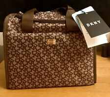 DKNY SIGNATURE THERMAL LUNCH TOTE BAG ~ BROWN, RRP: £60 BNWT