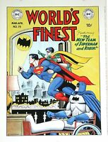 "World's Finest  #75   Cover Recreation Art   NM  Dick Sprang  15""  X  20"""