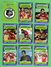 1990 NORTH SYDNEY BEARS  RUGBY LEAGUE CARDS