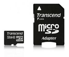 32GB Transcend MicroSDHC CL10 HighSpeed-Speicherkarte mit SD adapter