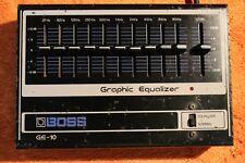 Vintage Boss GE-10 Graphic Equalizer Guitar Effect Pedal rge roland Y002 181026