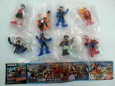 2001 Bandai Gashapon Capcom Rockman X Megaman EXE Full Color Figure Set of 8