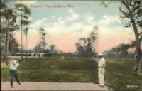 Gulfport MS Country Golf Golfing Teeing Off c1910 Postcard
