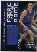 2016-17 Panini Totally Certified Fabric of Game Rookies Jersey Henry Ellenson