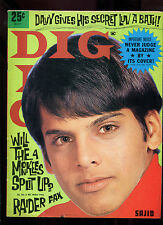 original USA 1968 Pop / Teen Magazine: DIG Volume 14 No.5 : Davy Jones  Raiders