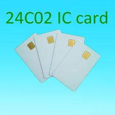 20pcs Blank white PVC contact smart IC card SLE24C02