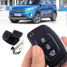3 Button Flip Folding Remote Key Fob Case Shell Fit For Hyundai Santa Fe ix45
