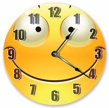 "10.5"" SMILING EMOJI CLOCK - Large 10.5"" Wall Clock - Home Décor Clock - 3058"