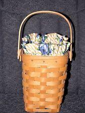 1998 Longaberger Horizon of Hope Basket Combo Liner & Protector Cancer Society