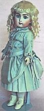"15""Antique French Jumeau Doll@1887 Bustle Apron-Dress&Underwear Pattern German"