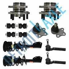 2 Front Wheel Hub Bearing, 2 Complete Struts, 2 Tie Rod, 2 Sway Bar 2 Ball Joint