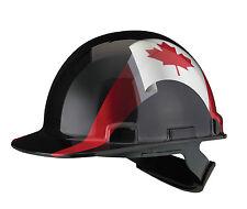 Hard hat with Canadian flag - Casque de construction avec drapeau Canadien