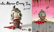 "RARE!  Gary Baseman ""Ahwroo "" Creamy! with an EXCLUSIVE Signed Print  190 /200"