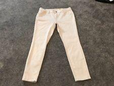 M&S Indigo Collection ECRU  Skinny Jeans Size 16 Short BNWT Free Sameday P&p