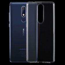 Silikoncase Transparent Ultradünn Hülle für Nokia 5.1 2018 Tasche Cover Schutz