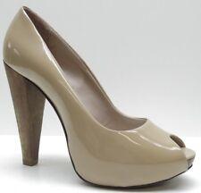 Aldo Brown Patent Leather Peep Toe Platform Pumps 6.5M 6.5 37 NEW MSRP $100.