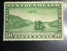 1931 Newfoundland Airmail Vickers plane over ship 50 cent. MNH EX-F Sc #C7