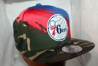 Philadelphia 76'ers Mitchell & Ness NBA Camo Paintbrush Snapback,Hat,Cap     NEW